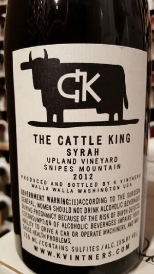 2013 K Vintners Cattle King- 98pts!